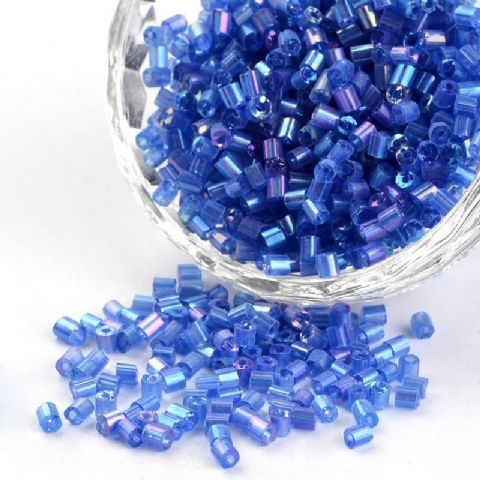 Seed Beads Two-Cut - 8/0 - Blue Rainbow - 50g